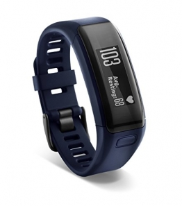 Garmin Vivosmart HR Activity Tracker with Smart Notification and Wrist Based Heart Rate Monitor - Regular, Blue - 1