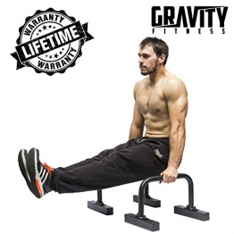 Gravity Fitness Parallettes for Crossfit, Calisthenics, Gymnastics, Bodyweight - 1