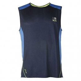 Karrimor Mens Xlite Sleeveless Running Vest Jogging Training Sports Top Clothing Slate Blue M -