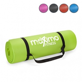 Maximo Exercise Mat - Premium Non-Slip Gym Mat - Multi Purpose - 183cm Length x 60cm Width x 1.2cm Thick - Perfect for Yoga, Pilates, Floor Exercises, Sit-Ups and Stretching - Lifetime Warranty. - 1