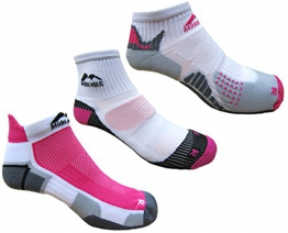 More Mile Womens 3 Pair Pack Running Socks, London, Miami & San Diego -
