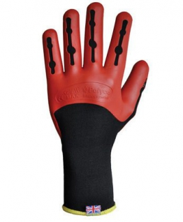 Polyco Size Large Grip It MAX (Tough Mudder) Gripper Gloves. Spartan, Total Warrior, OCR recommended -