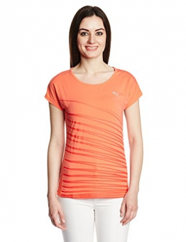 Puma Graphic Women's T-Shirt St Shine Orange Hot Coral Size:M -