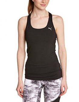 Puma Women's Training Essential Racer Back Tank Top - Black, Large/Size 14 -