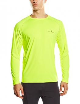 Ronhill Men's Vizion Long Sleeve Crew T-Shirt - Fluorescent Yellow, Large -