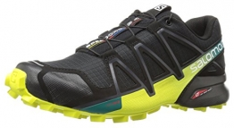 Salomon Men's Speedcross 4 Trail Running Shoes, Black (Black/sulphur Spring), 9.5 UK - 1