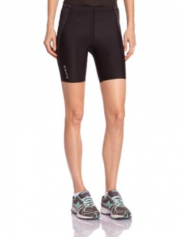 Skins A400 Shorts Women's Compression Tights - Black/Silver, M -