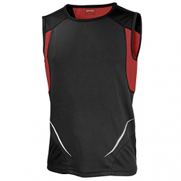 Spiro Mens Colours Athletic Running Training Sports Sleeveless Vest Top -