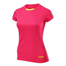 Thorogood Sports Women's Atomic Short Sleeve QuickDry Slim Fit Pro Training Top Vivid Pink Medium -