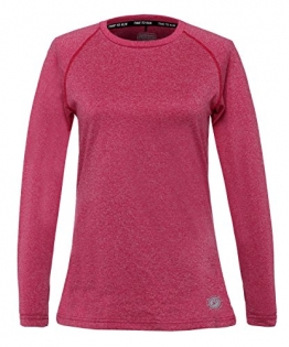 Time To Run Women's Lightweight Long Sleeve Thermo Running Crew Neck Top 12 Cerise Pink -