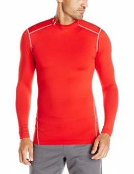 Under Armour Coldgear Compression Mock Shirt red-steel - L -