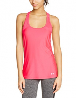 Under Armour HeatGear Women's Workout T-Shirt and Tank Top, Womens, Fitness - T-Shirt und Tank HG Alpha, Pink Shock, L -