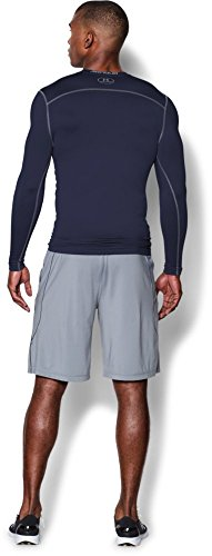 Under Armour mens coldgear long sleeve compression crew top - midnight navy Large -
