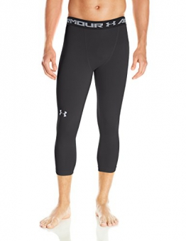 Under Armour Men's Heat Gear 3/4 Base Layer Leggings - Black, Large -