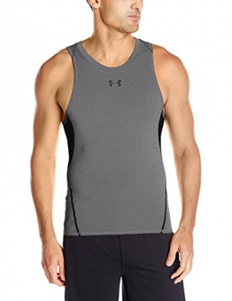 Under Armour Men's Heat Gear Tank Top - Carbon Heather, Large -