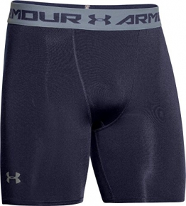 Under Armour Men's UA HeatGear Compression Shorts - Midnight Navy, Large -