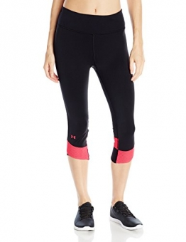 Under Armour Women's Fly By Compression Corsair - Black/Pink Shock/Reflective, X-Small -