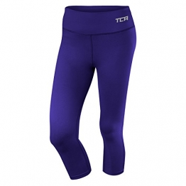 Women's TCA Pro Performance Supreme Running Capri Tights / Leggings - Clematis Blue M -