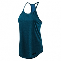 Women's TCA Switch-Up Reversible Workout Tank Sleeveless Vest Top - Midnight Blue L -