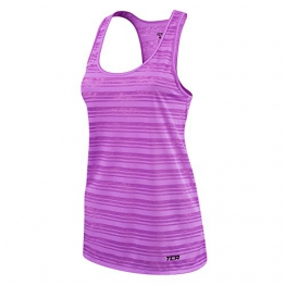 Women's TCA Ultralite Running Tank Sleeveless Vest Top - Lilac - M -